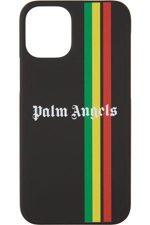 Palm Angels Black Multicolor Stripe iPhone 12 Mini Case