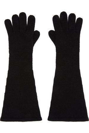 Totême Black Cashmere Gloves
