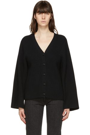 Totême Black Lambswool Cardigan