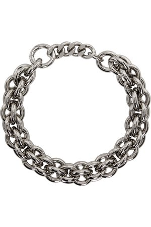 1017 ALYX 9SM Silver Leather Details Chunky Chain Necklace