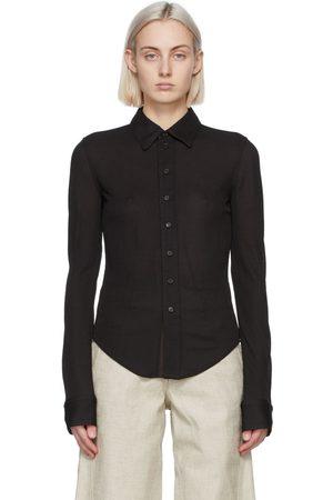 Bottega Veneta Brown Viscose Shirt