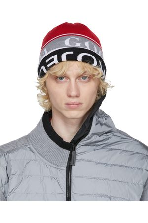 Y / PROJECT Reversible Red & Grey Canada Goose Edition Wool Beanie