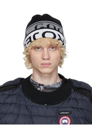 Y / PROJECT Reversible Black & White Canada Goose Edition Wool Beanie