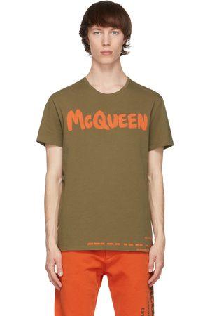 Alexander McQueen Khaki Graffiti T-Shirt