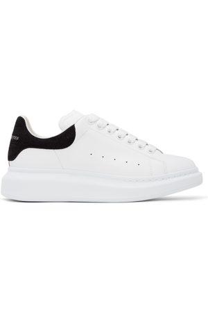 Alexander McQueen White & Black Croc Oversized Sneakers