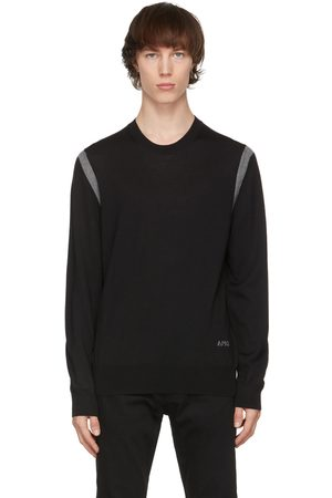 Alexander McQueen Black & Grey Wool Stripe Sweater