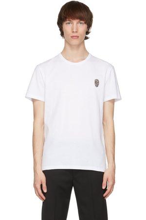 Alexander McQueen White Skull Badge T-Shirt