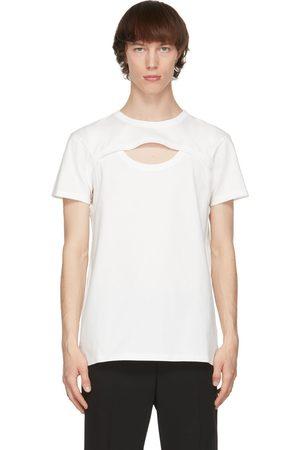 Alexander McQueen White Cut-Out Graffiti T-Shirt