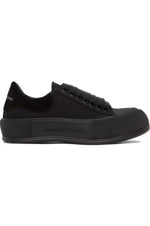 Alexander McQueen Black Deck Plimsoll Sneakers