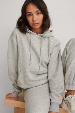 NA-KD Kvinder Sweatshirts - Økologisk Oversize Børstet Hættetrøje