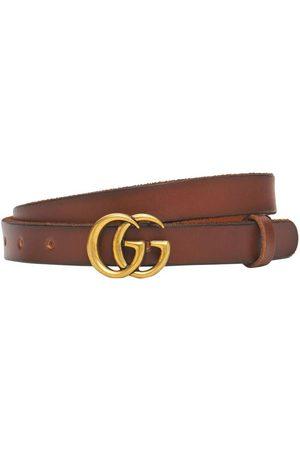Gucci Kvinder Bælter - 2cm Gg Marmont Leather Belt