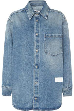 MM6 MAISON MARGIELA Kvinder Denimskjorter - Vintage Cotton Denim Shirt
