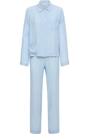 AG Kvinder Undertøjssæt - Silk Blend Satin Pajama Set