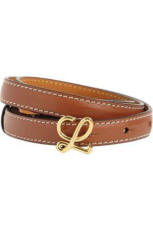 Loewe Kvinder Bælter - 1.5cm Leather Logo Belt