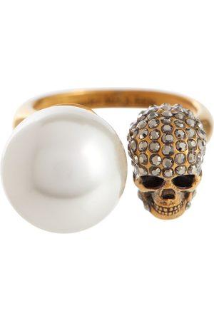 Alexander McQueen Kvinder Ringe - Faux pearl and crystal-embellished ring
