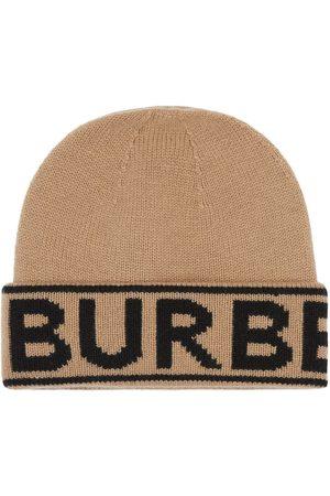 Burberry Huer - Hue med intarsiastrikket logo
