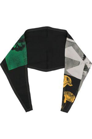 OAMC Mænd Tørklæder - Silketørklæde med grafisk tryk