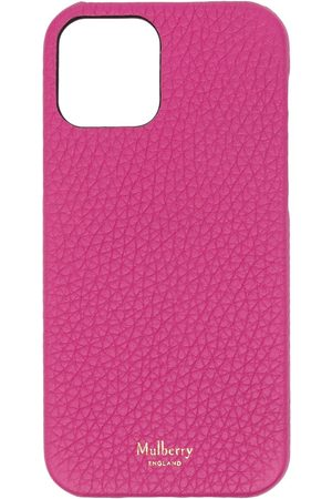 MULBERRY Mobil Covers - IPhone 12 cover i grynet læder