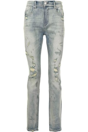 STAMPD Mænd Slim - Smalle jeans med slitageeffekt
