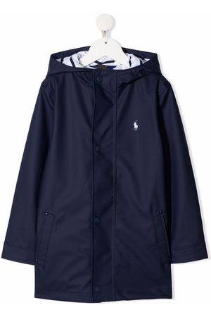 Ralph Lauren Drenge Regntøj - Pony logo hooded raincoat