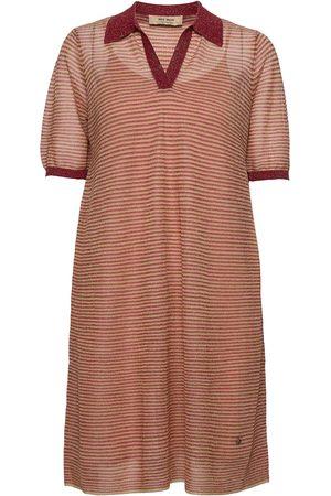 Mos Mosh Kvinder Strikkede kjoler - Vinola Knit Dress Dresses Knitted Dresses Beige