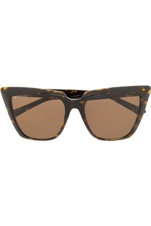Balenciaga Eyewear Solbriller - Cat-eye solbriller med skildpaddeskjold-effekt