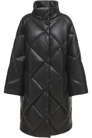 STAND STUDIO Anissa Faux Leather Puffer Coat