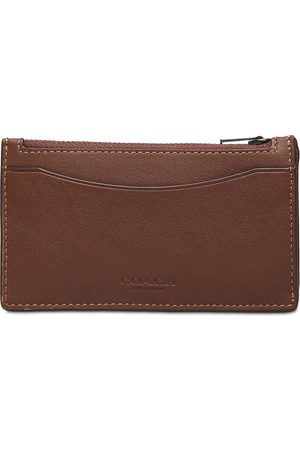 Coach Mænd Punge - Zip Card Case Smooth Leather Mens Wallets Accessories Wallets Classic Wallets Brun