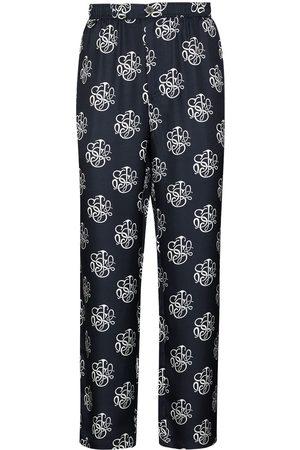 Soulland Mænd Slim bukser - Logo-print slim-leg trousers