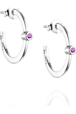 Efva Attling Kvinder Øreringe - Micro Blink Hoops - Pink Sapphire Accessories Jewellery Earrings Hoops