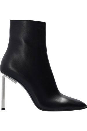 Off White Leather ankle boots