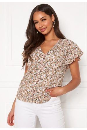 Happy Holly Fiona blouse Light pink / Patterned 36/38