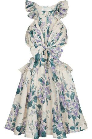 Zimmermann Cassia floral linen minidress