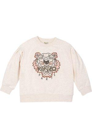 Kenzo Sweatshirts - Sweatshirt - Chine Ecru/Armygrøn m. Tiger
