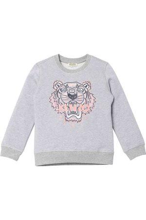Kenzo Sweatshirts - Sweatshirt - Gråmeleret/Rosa m. Tiger