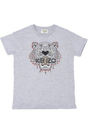 Kenzo Kortærmede - T-shirt - Gråmeleret/Mørkegrå m. Tiger