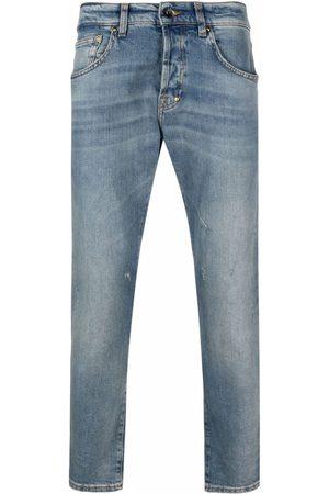 Prps Mænd Straight - Stenvaskede jeans med lige ben