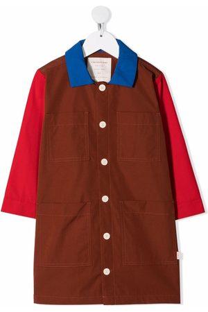 Tiny Cottons Enkeltradet jakke med colourblocking