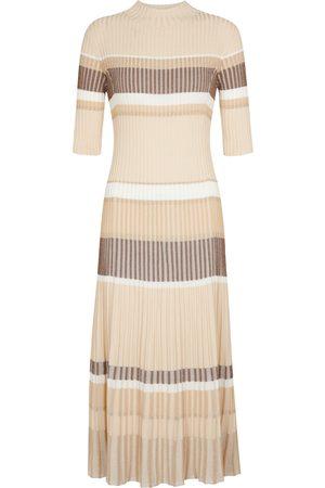 Proenza Schouler Striped ribbed-knit sweater dress