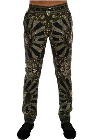 Dolce & Gabbana Mænd Slim bukser - Carretto Print Silk Dress Pants