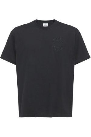 Burberry Mænd Kortærmede - Logo Embroidery Organic Cotton T-shirt