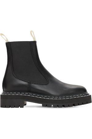 Proenza Schouler 30mm Lug Leather Chelsea Boots