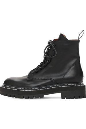 Proenza Schouler 30mm Lug Leather Combat Boots