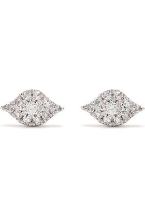 Djula øreringe i 18 karat rødguld med diamanter