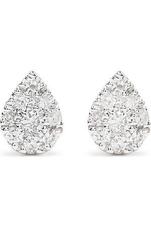 Djula Mænd Øreringe - Pæreformede øreringe i 18 karat hvidguld med diamanter