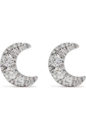 Djula Mænd Øreringe - Måneøreringe i 18 karat hvidguld med diamanter