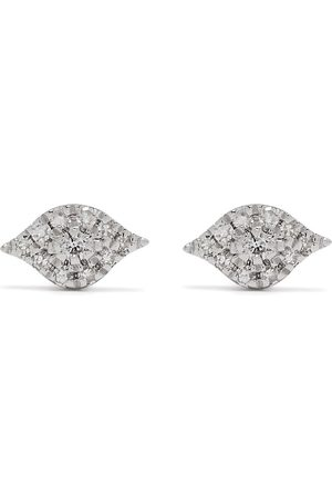 DJULA Mænd Øreringe - øreringe i 18 karat hvidguld med diamanter