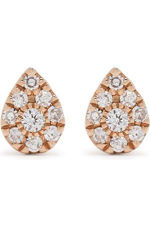 Djula Pæreformede øreringe i 18 karat rødguld med diamanter