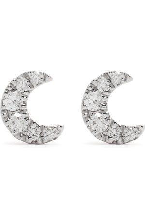 Djula Mænd Øreringe - Måneøreringe i 18 karat rødguld med diamanter