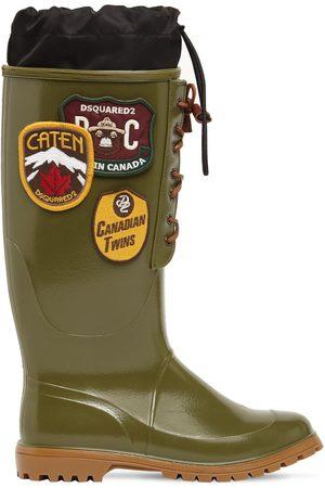 Dsquared2 Mænd Gummistøvler - Rubber Rain Boots W/ Patches